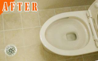 トイレのクリーニング[After写真]