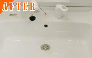 洗面台のクリーニング[After写真]